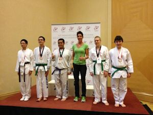 Para-Taekwondo competitors with Intellectual/Developmental Disabilities at the Canadian National Championships with 4-time World Para-Taekwondo Champion